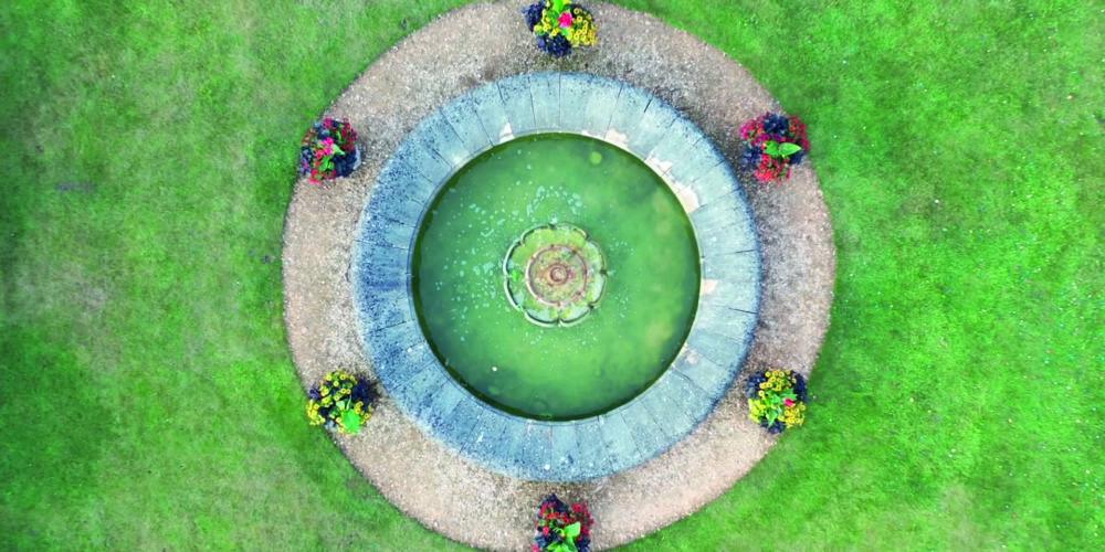 Wedding venue videography drone shot