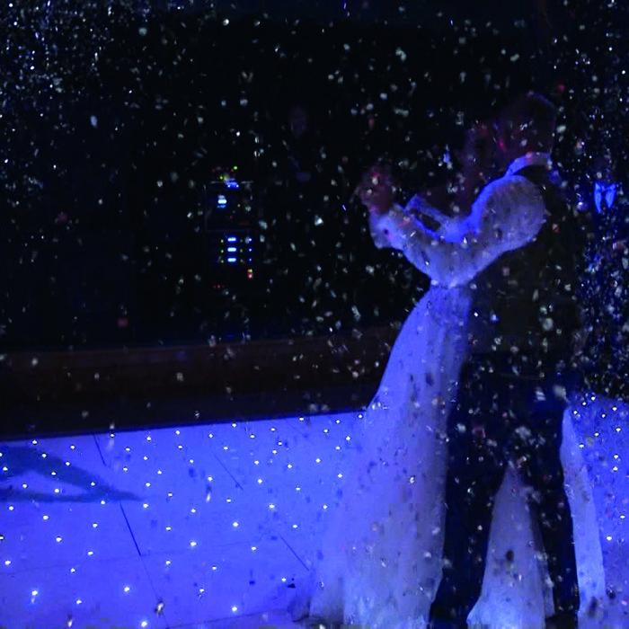 First dance confetti video capture still